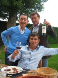 ボルドー、コート・デュ・カスティヨン「プピーユ」にて、オーナー醸造家のフィリップ・カリーユ氏と